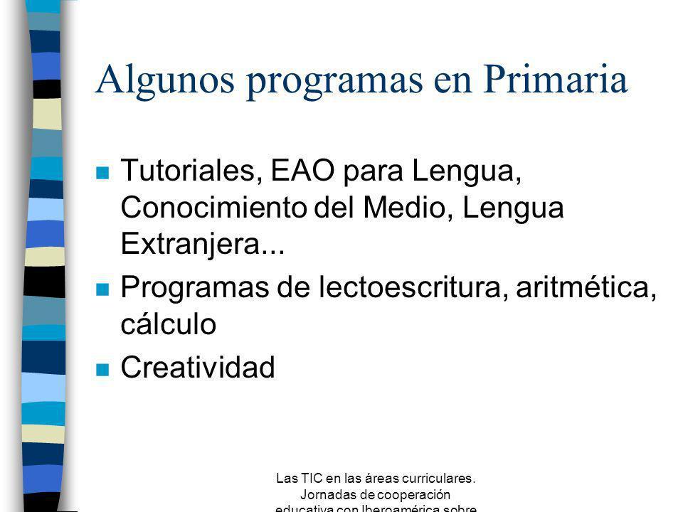 Algunos programas en Primaria