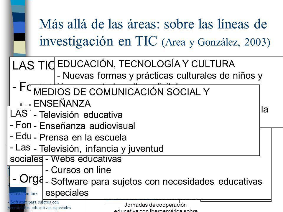 Más allá de las áreas: sobre las líneas de investigación en TIC (Area y González, 2003)