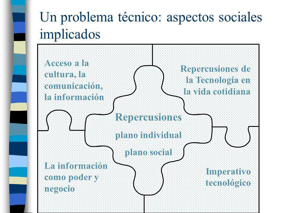 Un problema técnico: aspectos sociales implicados