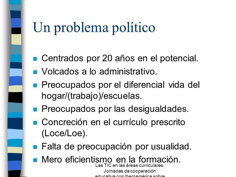 Un problema político Centrados por 20 años en el potencial.