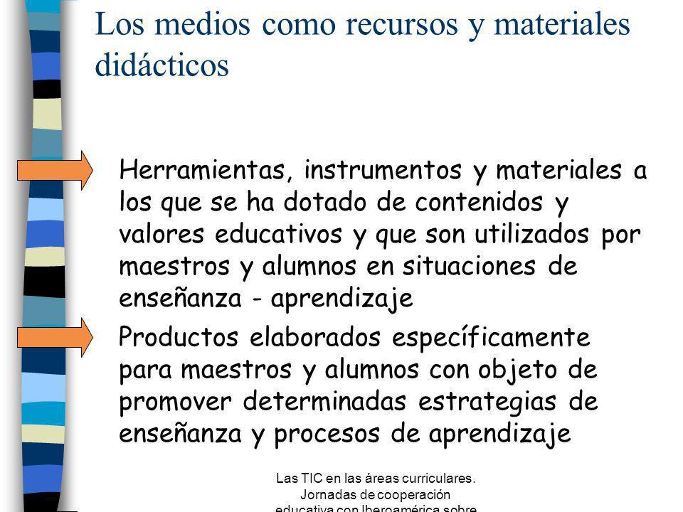 Los medios como recursos y materiales didácticos