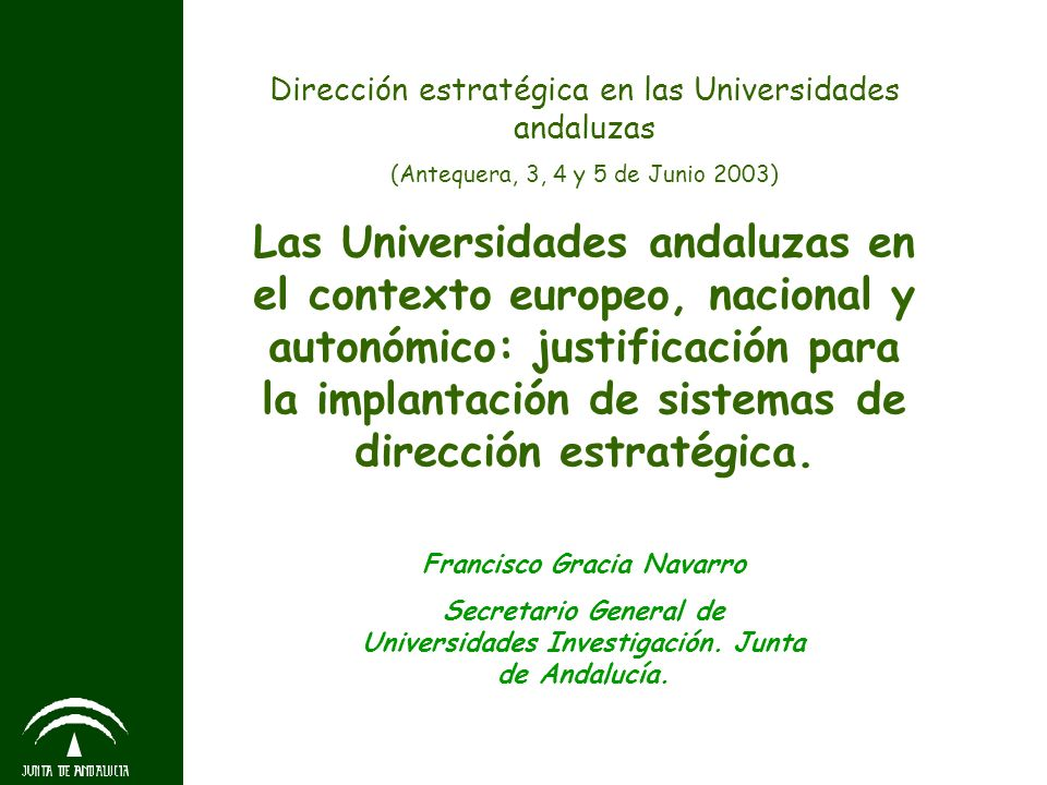 Dirección estratégica en las Universidades andaluzas
