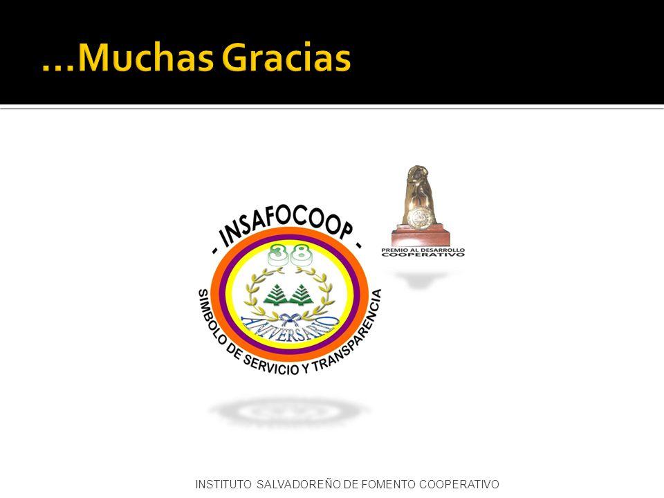 …Muchas Gracias INSTITUTO SALVADOREÑO DE FOMENTO COOPERATIVO