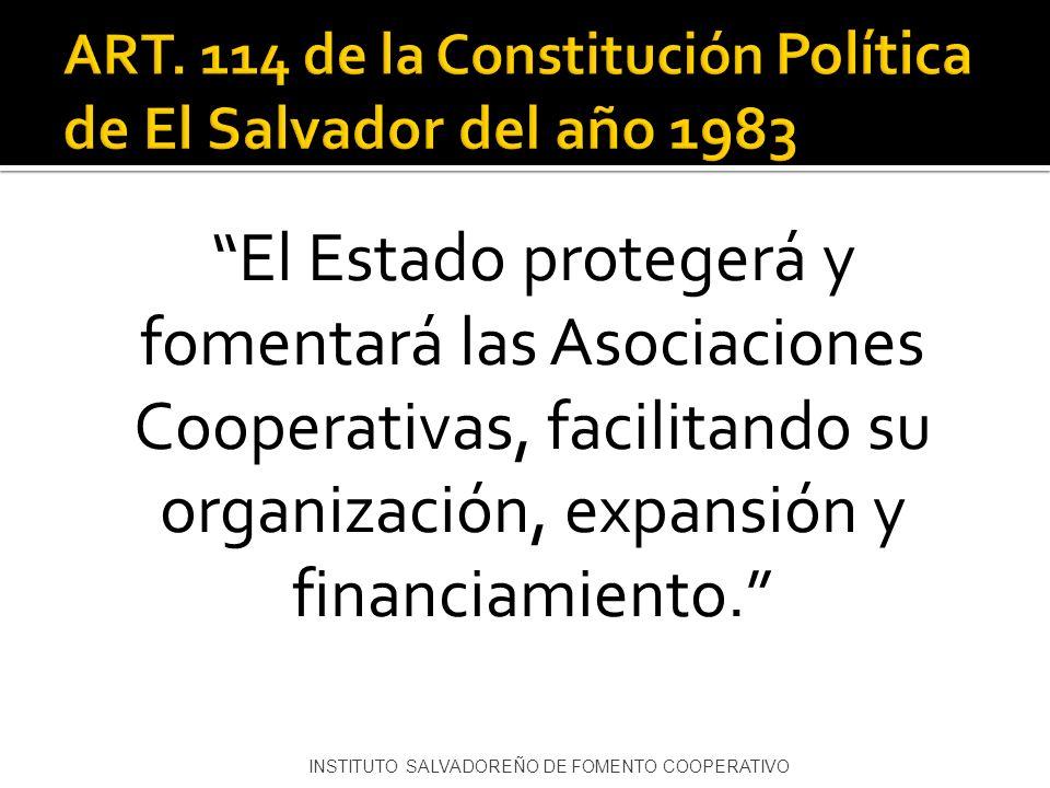 ART. 114 de la Constitución Política de El Salvador del año 1983