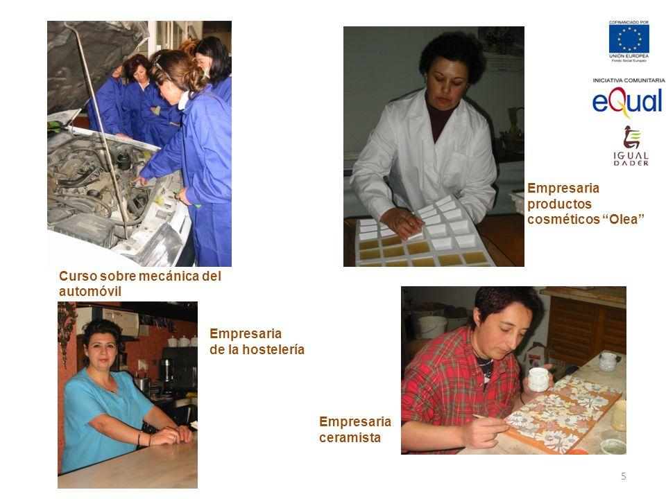 Empresaria productos. cosméticos Olea Curso sobre mecánica del automóvil. Empresaria. de la hostelería.