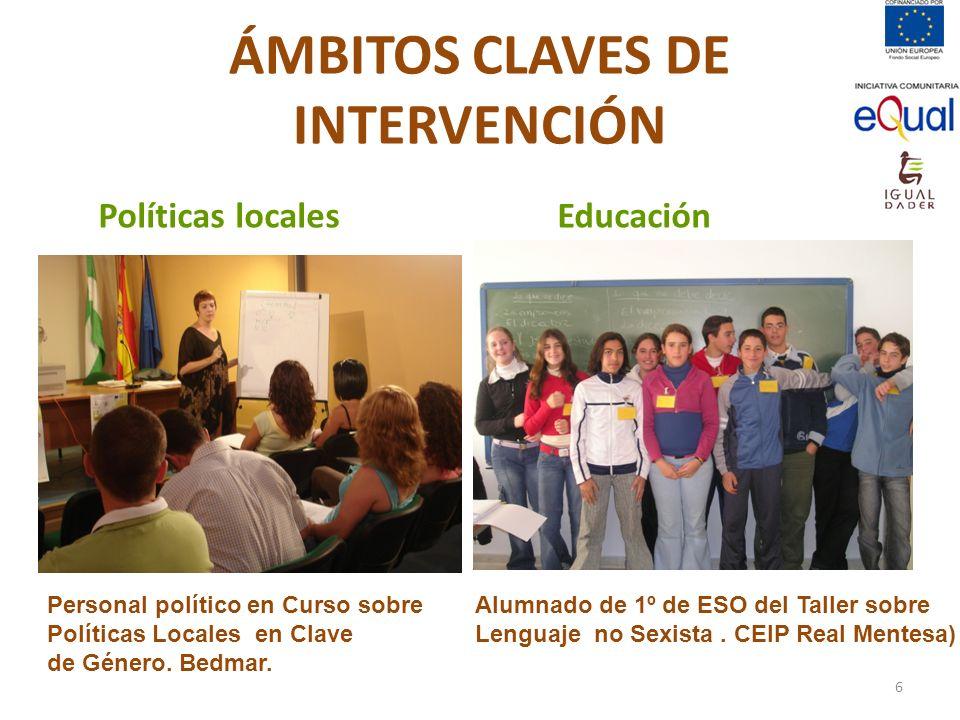 ÁMBITOS CLAVES DE INTERVENCIÓN