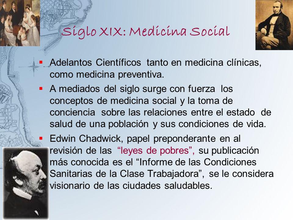 Siglo XIX: Medicina Social