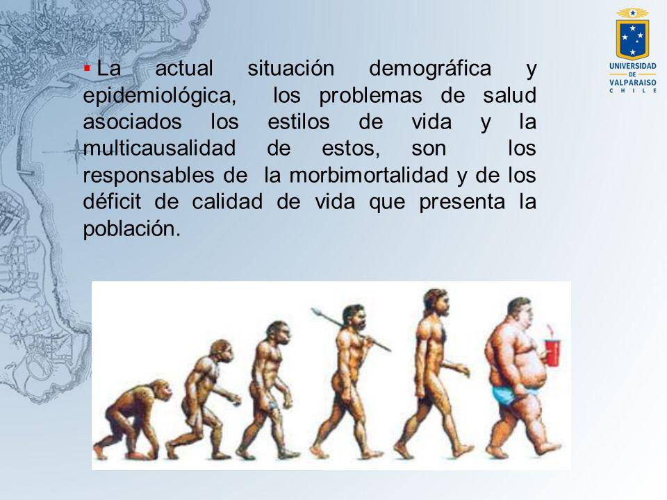 La actual situación demográfica y epidemiológica, los problemas de salud asociados los estilos de vida y la multicausalidad de estos, son los responsables de la morbimortalidad y de los déficit de calidad de vida que presenta la población.
