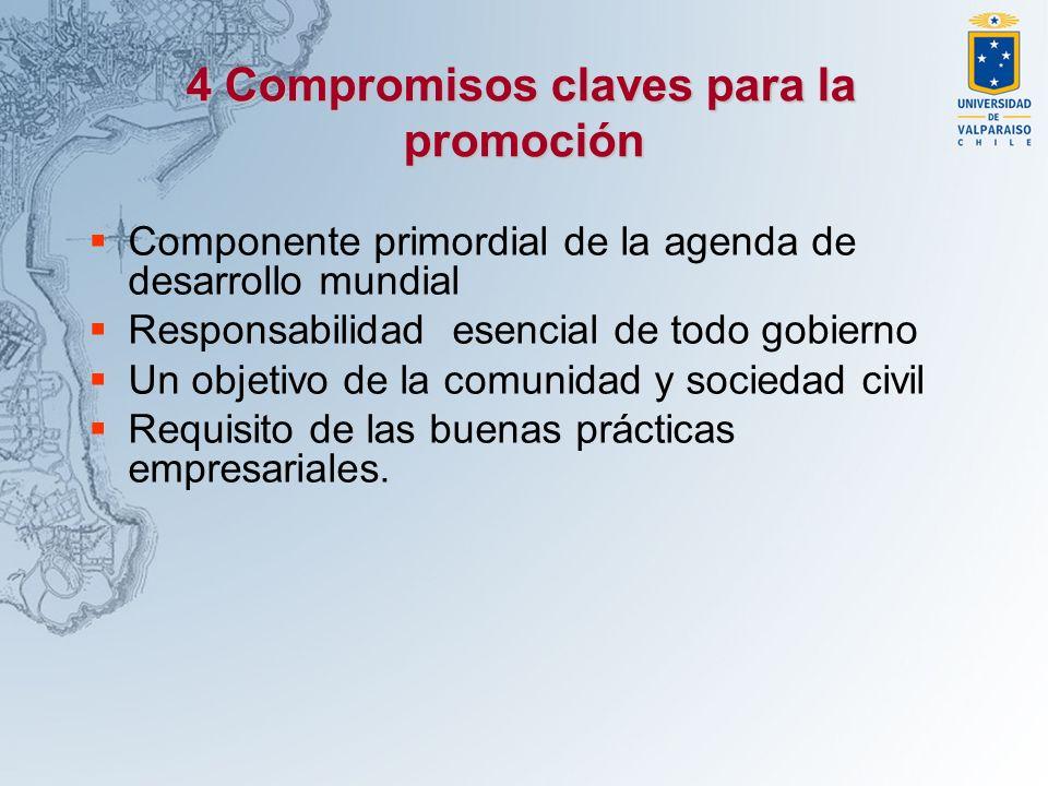 4 Compromisos claves para la promoción