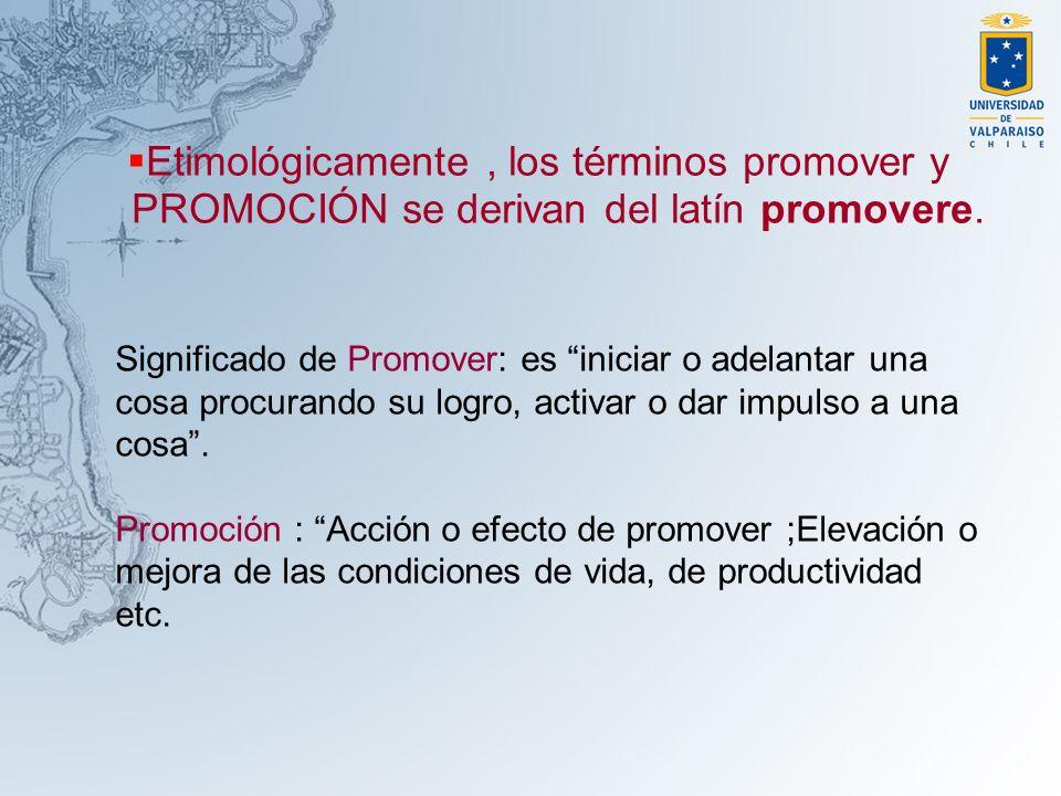 Etimológicamente , los términos promover y PROMOCIÓN se derivan del latín promovere.