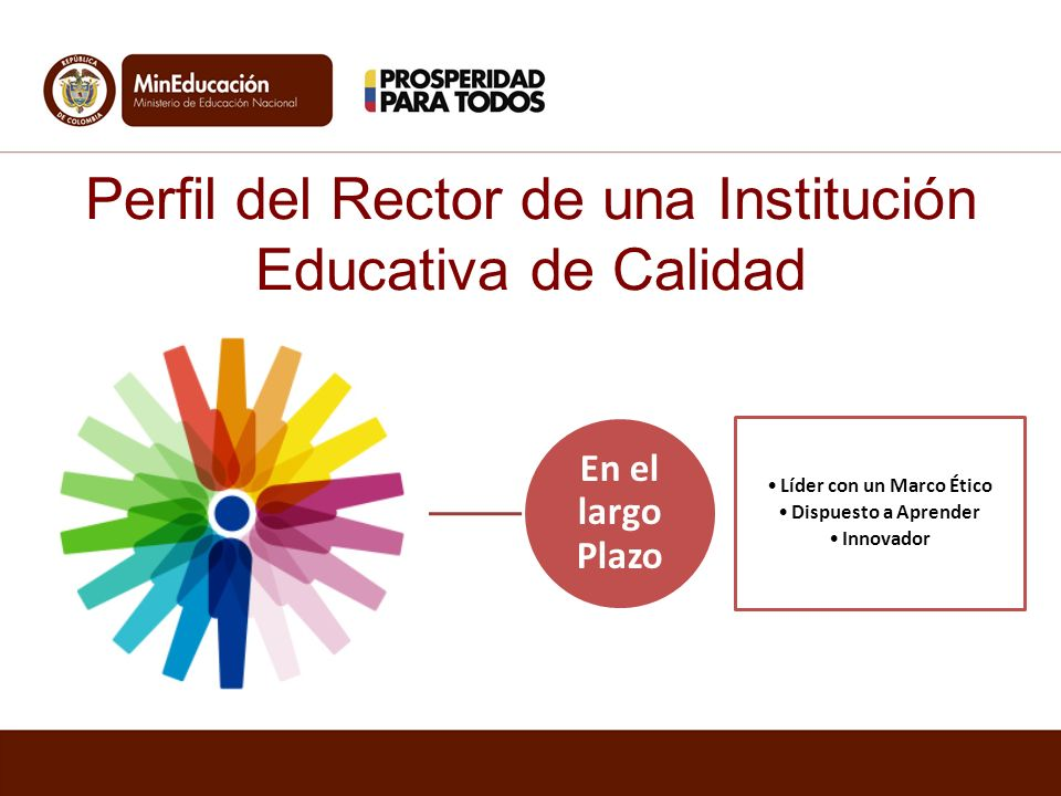 Perfil del Rector de una Institución Educativa de Calidad