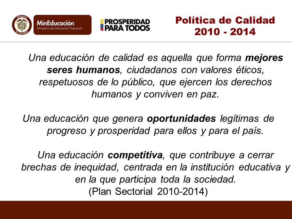Política de Calidad 2010 - 2014