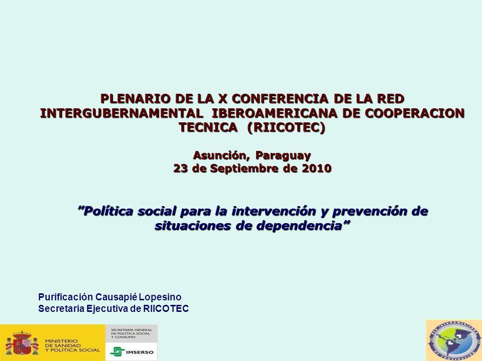 PLENARIO DE LA X CONFERENCIA DE LA RED INTERGUBERNAMENTAL IBEROAMERICANA DE COOPERACION TECNICA (RIICOTEC)