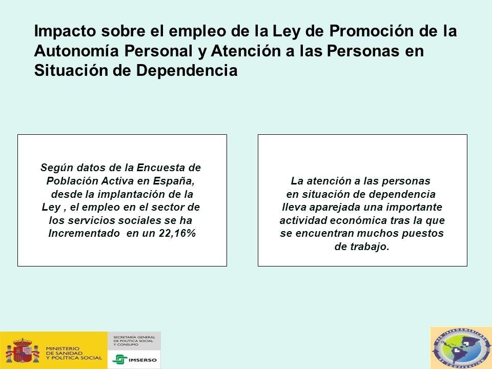 Impacto sobre el empleo de la Ley de Promoción de la Autonomía Personal y Atención a las Personas en Situación de Dependencia
