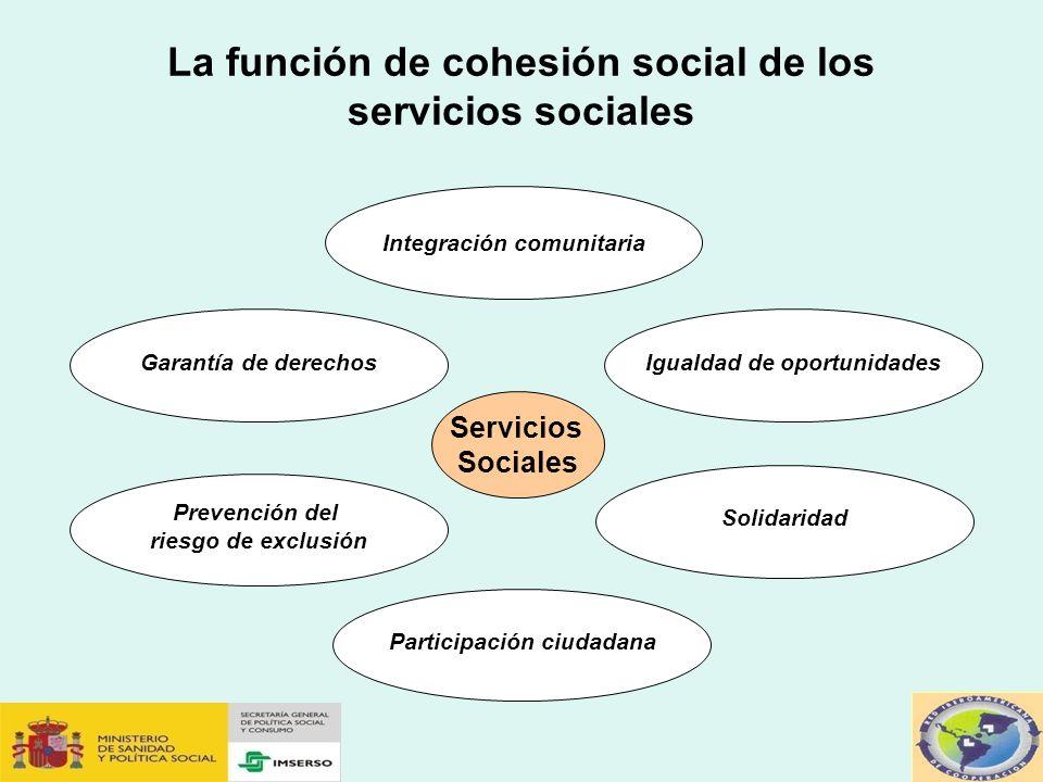 La función de cohesión social de los servicios sociales