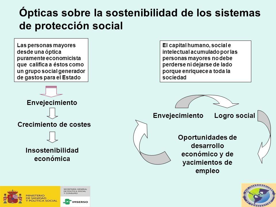 Ópticas sobre la sostenibilidad de los sistemas de protección social