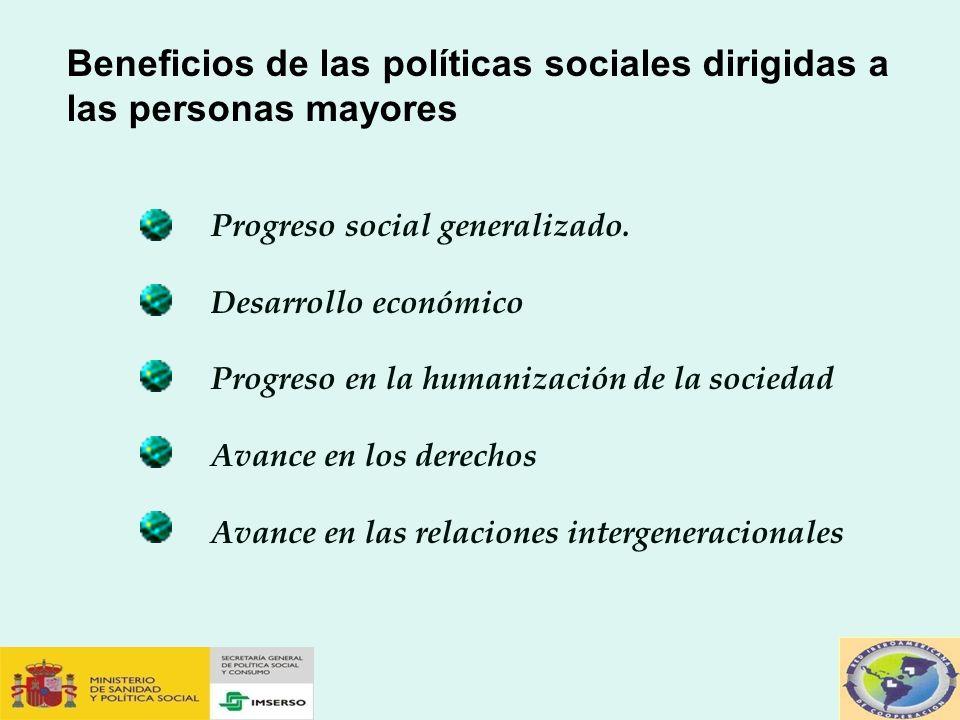 Beneficios de las políticas sociales dirigidas a las personas mayores
