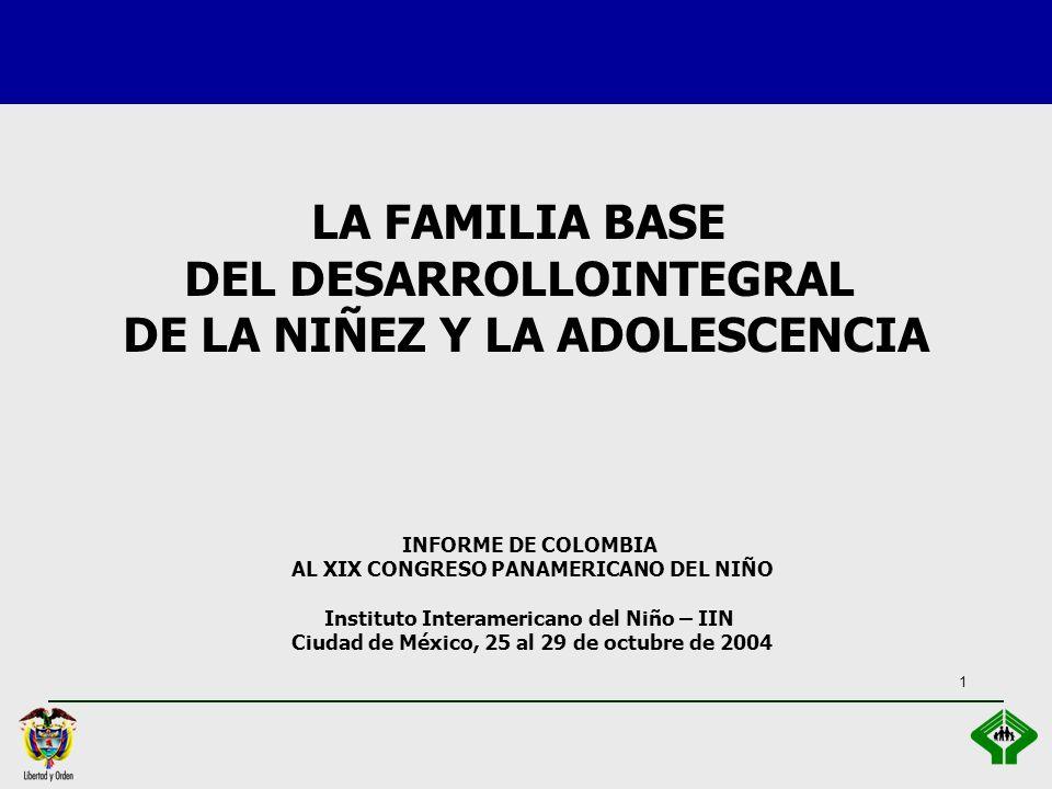 LA FAMILIA BASE DEL DESARROLLOINTEGRAL DE LA NIÑEZ Y LA ADOLESCENCIA