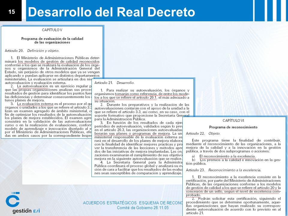 Desarrollo del Real Decreto