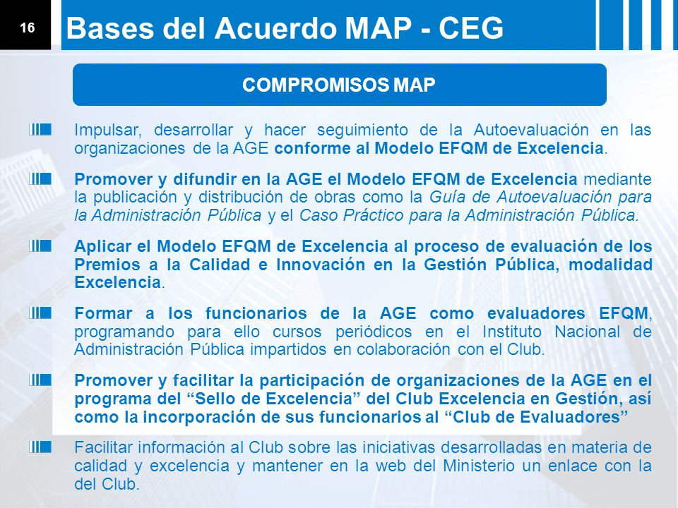 Bases del Acuerdo MAP - CEG