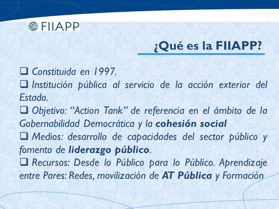 ¿Qué es la FIIAPP Constituida en 1997.