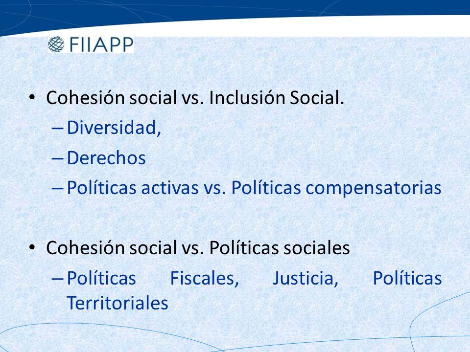 Cohesión social vs. Inclusión Social.
