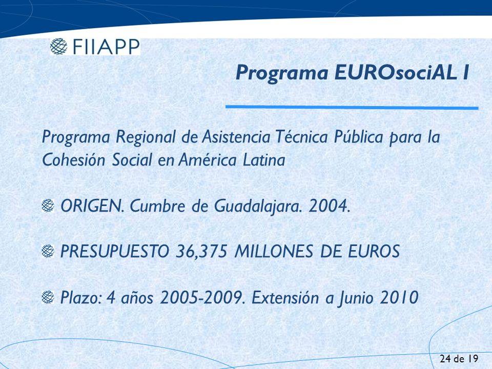 Programa EUROsociAL I Programa Regional de Asistencia Técnica Pública para la Cohesión Social en América Latina.