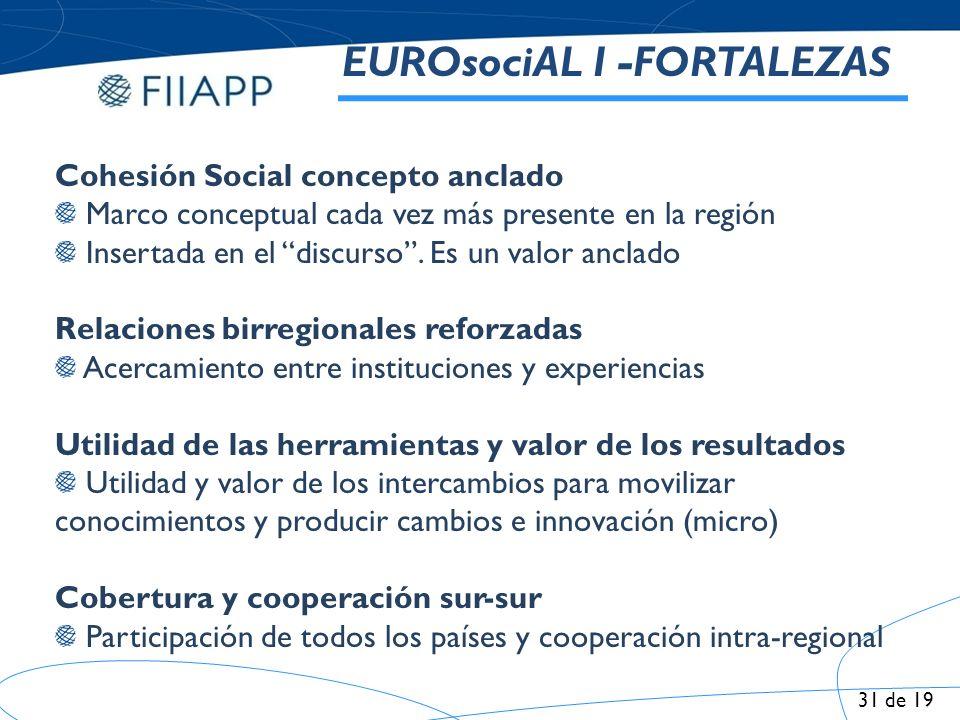 EUROsociAL I -FORTALEZAS
