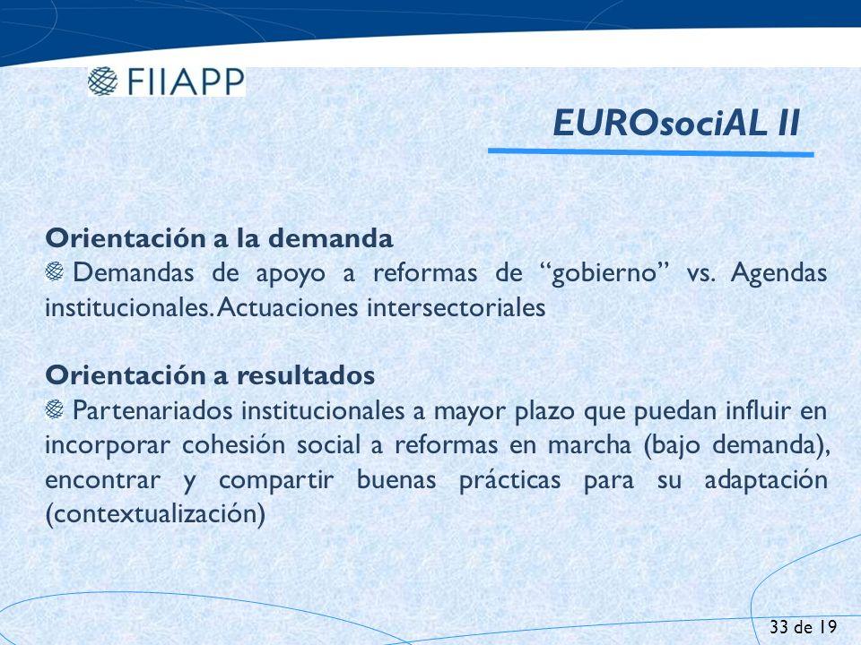 EUROsociAL II Orientación a la demanda