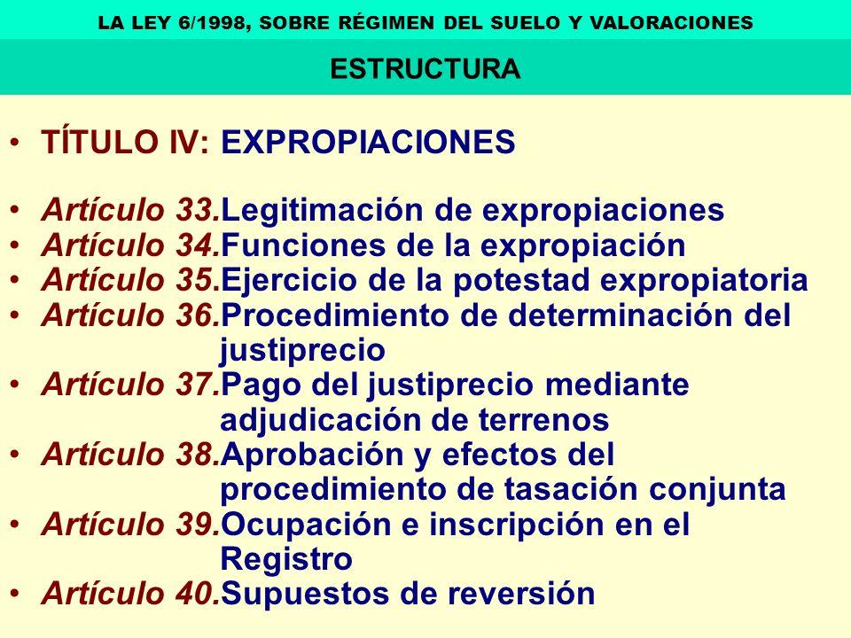 LA LEY 6/1998, SOBRE RÉGIMEN DEL SUELO Y VALORACIONES