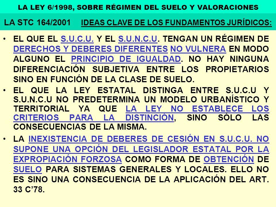 LA STC 164/2001 IDEAS CLAVE DE LOS FUNDAMENTOS JURÍDICOS: