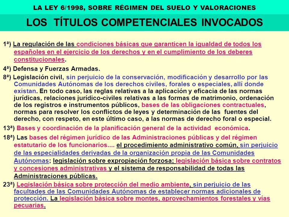 LOS TÍTULOS COMPETENCIALES INVOCADOS