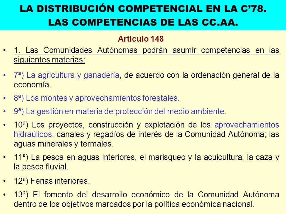 LA DISTRIBUCIÓN COMPETENCIAL EN LA C'78.