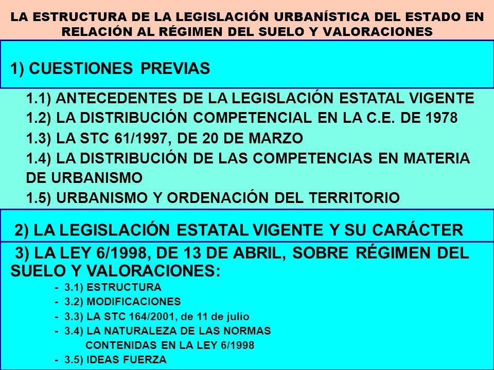 2) LA LEGISLACIÓN ESTATAL VIGENTE Y SU CARÁCTER