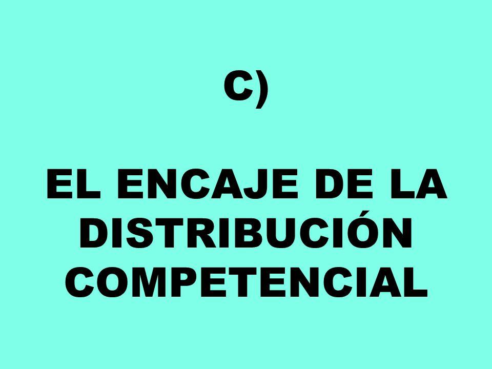 C) EL ENCAJE DE LA DISTRIBUCIÓN COMPETENCIAL