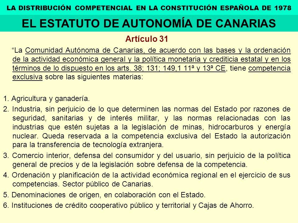 EL ESTATUTO DE AUTONOMÍA DE CANARIAS