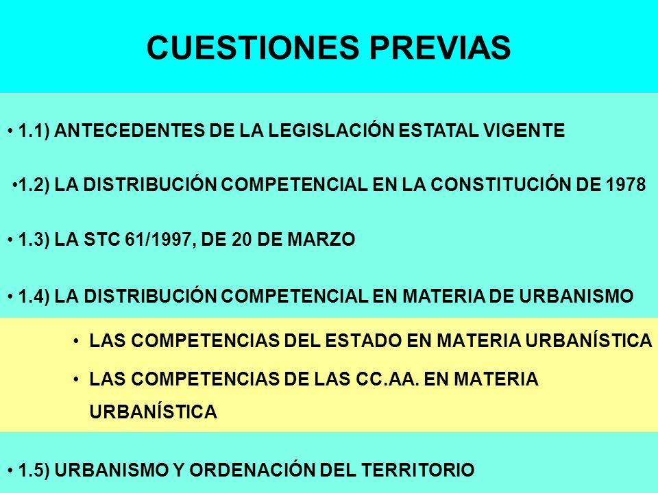 1.2) LA DISTRIBUCIÓN COMPETENCIAL EN LA CONSTITUCIÓN DE 1978