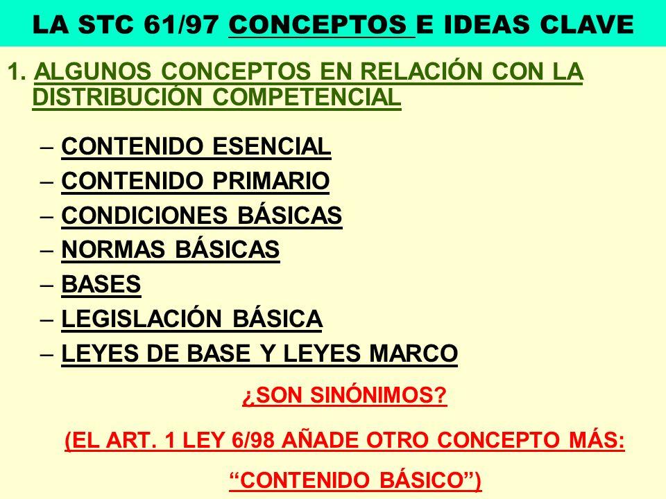 LA STC 61/97 CONCEPTOS E IDEAS CLAVE