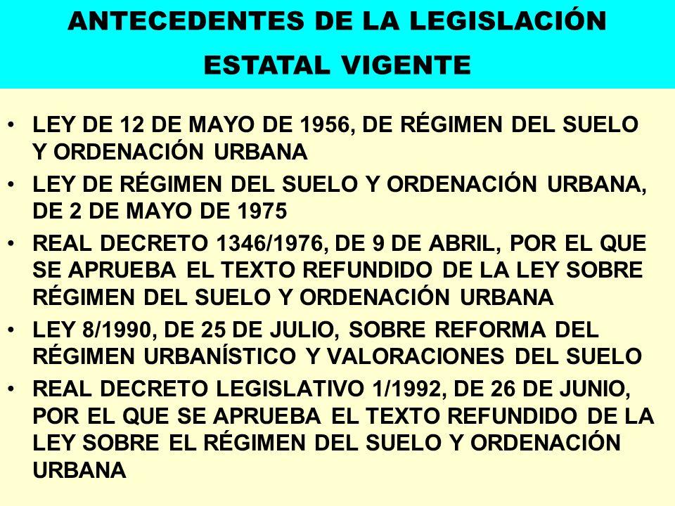 ANTECEDENTES DE LA LEGISLACIÓN ESTATAL VIGENTE