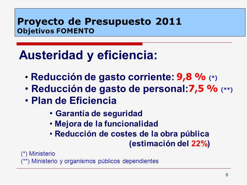 Austeridad y eficiencia: