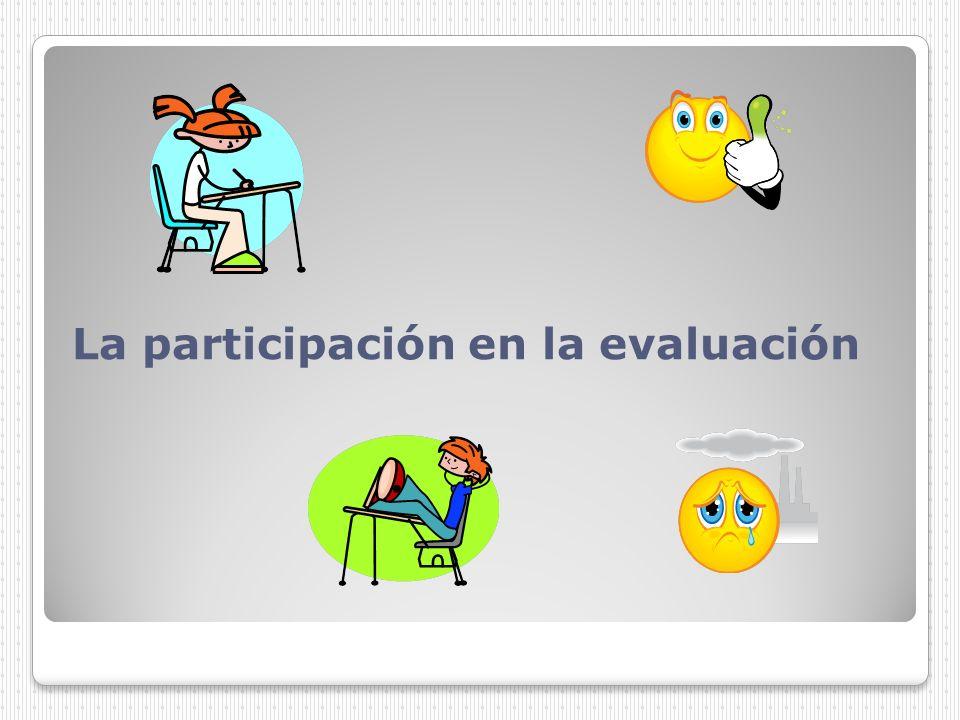 La participación en la evaluación