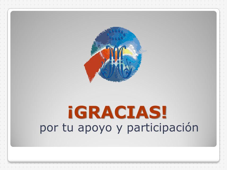 por tu apoyo y participación