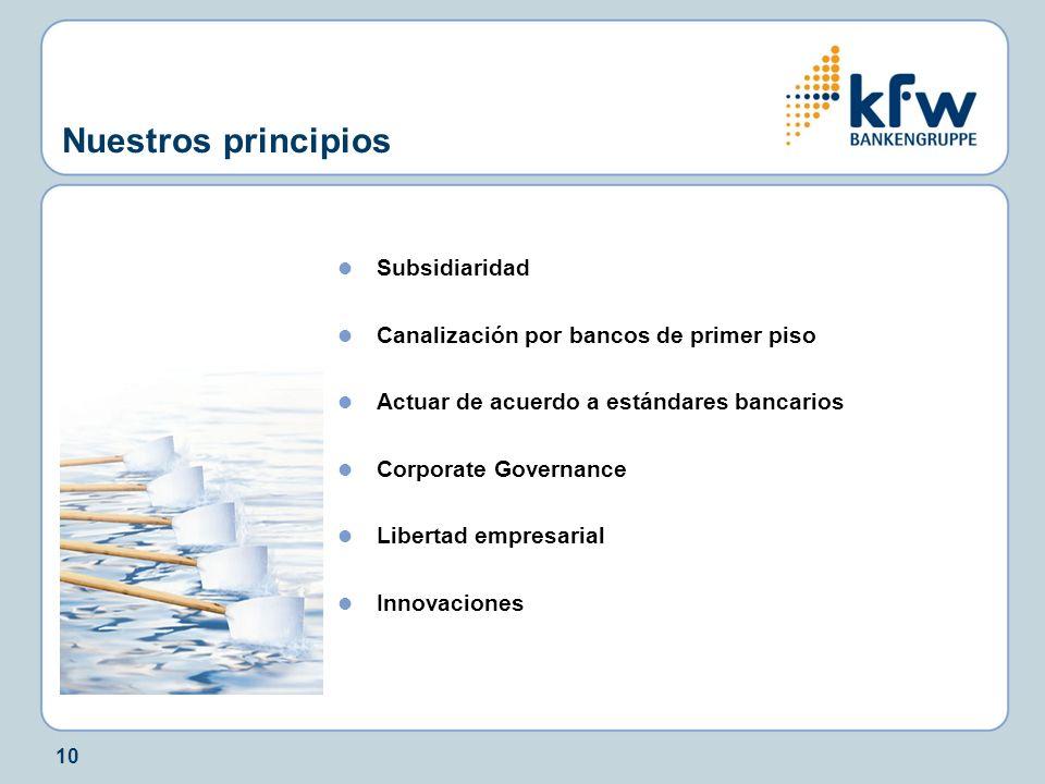 Nuestros principios Subsidiaridad