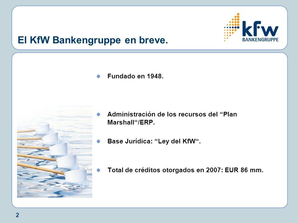 El KfW Bankengruppe en breve.