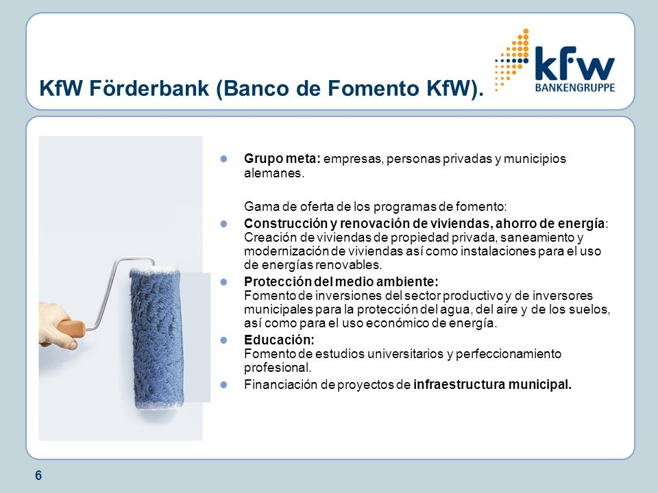 experiencias internacionales el kfw bankengruppe alemania ppt descargar. Black Bedroom Furniture Sets. Home Design Ideas