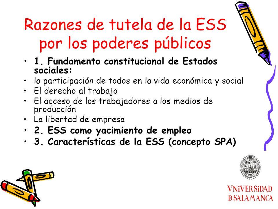 Razones de tutela de la ESS por los poderes públicos