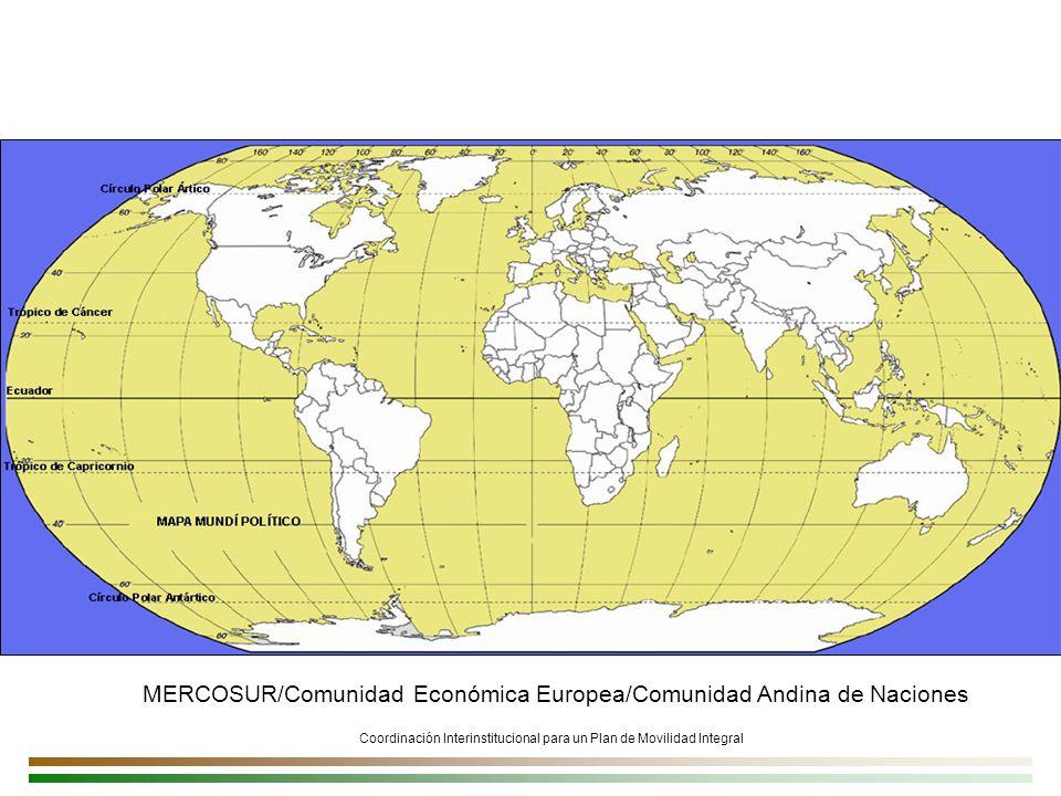 MERCOSUR/Comunidad Económica Europea/Comunidad Andina de Naciones