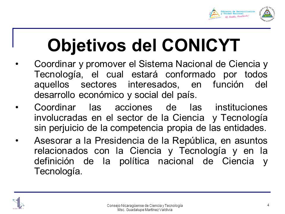 Objetivos del CONICYT