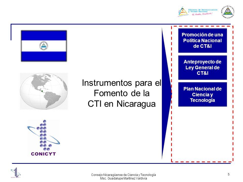Instrumentos para el Fomento de la CTI en Nicaragua