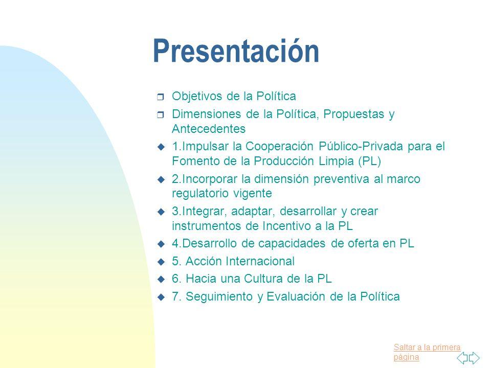 Presentación Objetivos de la Política